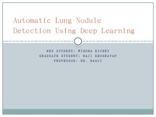 Lung Nodule Detection from CT Scans Using Dee...