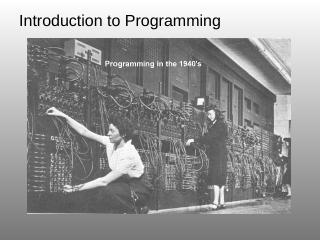 Machine Language The only programming ... - m...