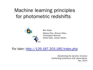 Machine learning principles for photometric r...