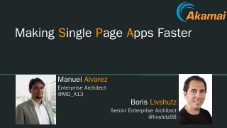 Making Single Page Apps Faster