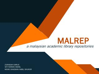 MALRep - Confederation of Open Access Reposit...