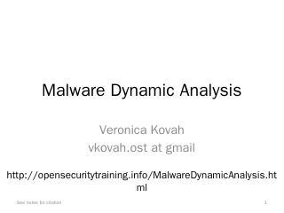 Malware Dynamic Analysis - Open Security Trai...
