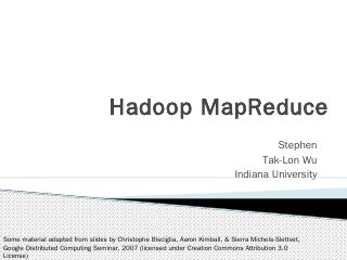 MapReduce in Apache Hadoop - HPC University