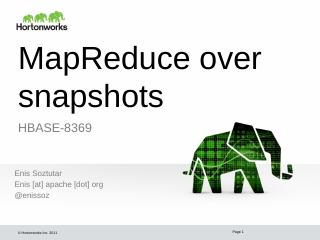 MapReduce over snapshots - Meetup
