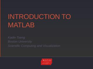 matlab - Boston University