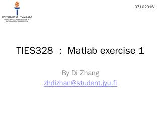 Matlab exercise