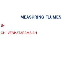Measuring Flume