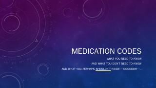 Medication Codes