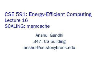 memcache - Stony Brook CS