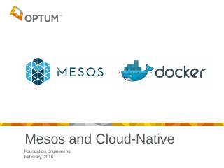 Mesos And Cloud-Native - Computer Measurement...