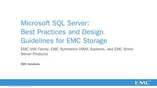 Microsoft SQL Server: Best Practices and Desi...