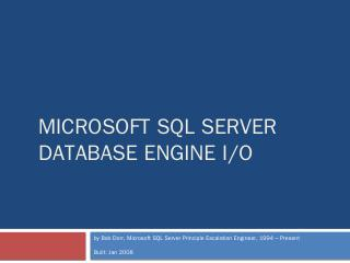 Microsoft SQL Server I/O Internals