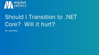 Migrating from ASP.NET to ASP.NET MVC Core - ...
