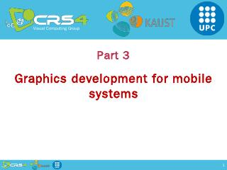 Mobile Graphics - CRS4