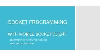 mobile socket client - Department of Computer...