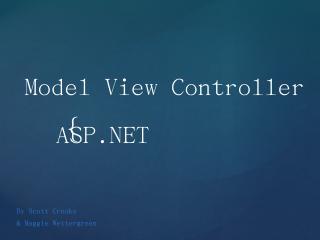 Model View Controller ASP.NET