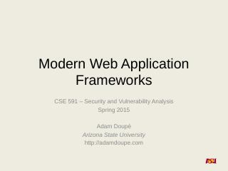 Modern Web Applicatio...