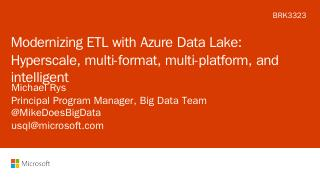 Modernizing ETL with Azure Data Lake: Hypersc...