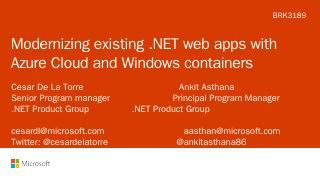Modernizing existing .NET applications with W...