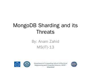 MongoDB sharding and its Threats - WordPress.com
