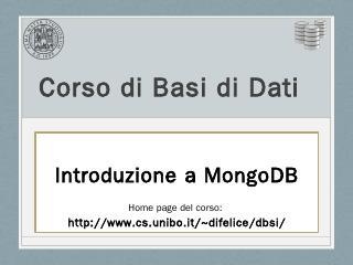 MongoDB - Unibo