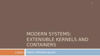 现代操作系统--可扩展内核与容器