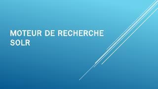 Moteur de recherche Lucene-SolR