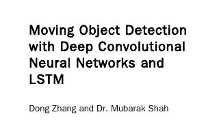 Moving Object Detection with Deep Convolution...