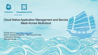 多云下的云原生应用管理和微服务治理