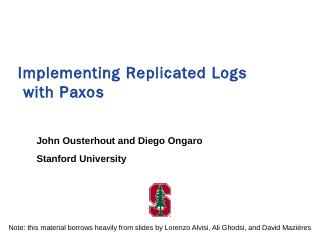 Multi-Paxos - RAMCloud - Stanford University