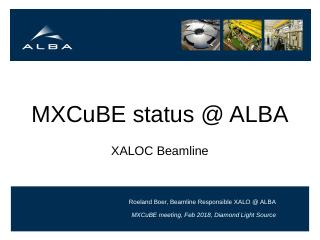 MXCuBE diamond 20180201 ALBA status report