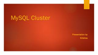 MySQL Cluster - Villanova Computer Science