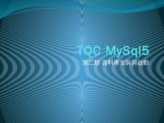 MySQL 伺服器