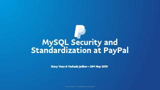 Paypal的MySQL安全和标准化
