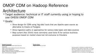 Nifi (aka Hadoop Data Flow) - OHDSI