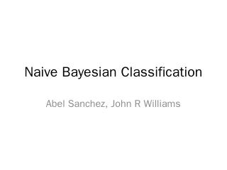 Naive Bayesian Document Classification