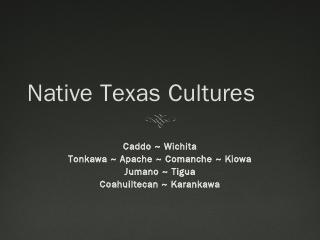 Native Texas Cultures