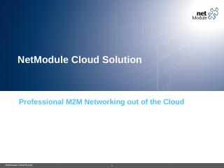 NetModule Cloud Solution