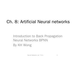 Neural Networks - CUHK CSE