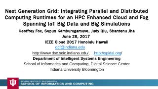 Next Generation Grid: Integrating Parallel an...