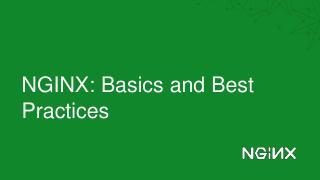 Nginx基础和最佳实践