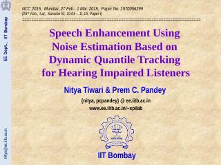 nitya@ee.iitb.ac.in EE Dept., IIT Bombay 1 2 ...