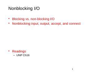 Nonblocking IO