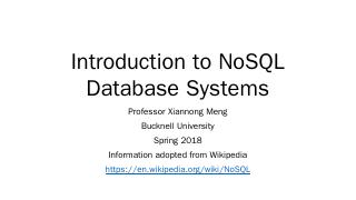 NoSQL - Bucknell University