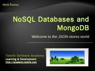 NoSQL Databases and MongoDB - Telerik Academy