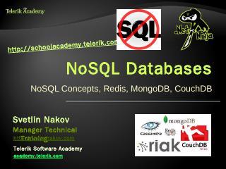 NoSQL Databases: Redis, MongoDB, CouchDB - Te...