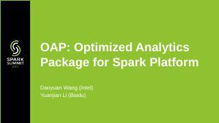 OAP:基于 Spark 的索引加速引擎