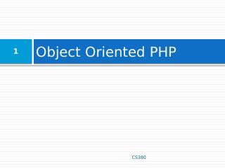 面向对象的PHP Web编程