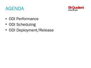 ODI Scheduler- Source Control - performance