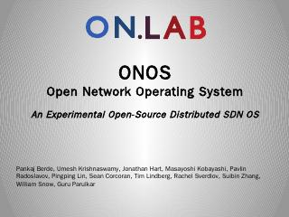 ONOS Open Network Operating System An ... - O...
